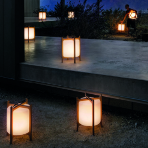 Pictured Gloster's Voyager LED Lanterns and Bay Lounge Set Collection
